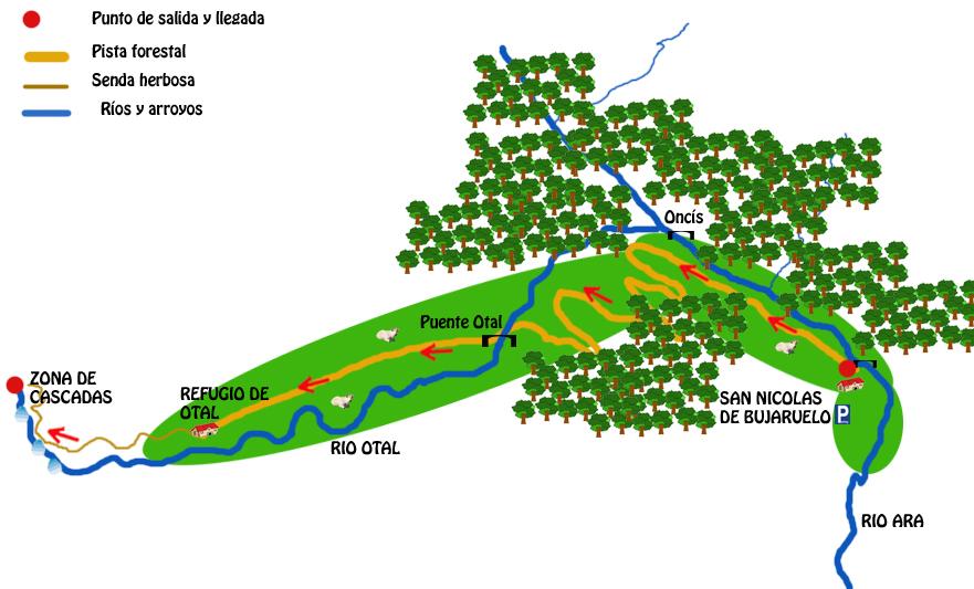 mapa ruta valle de otal