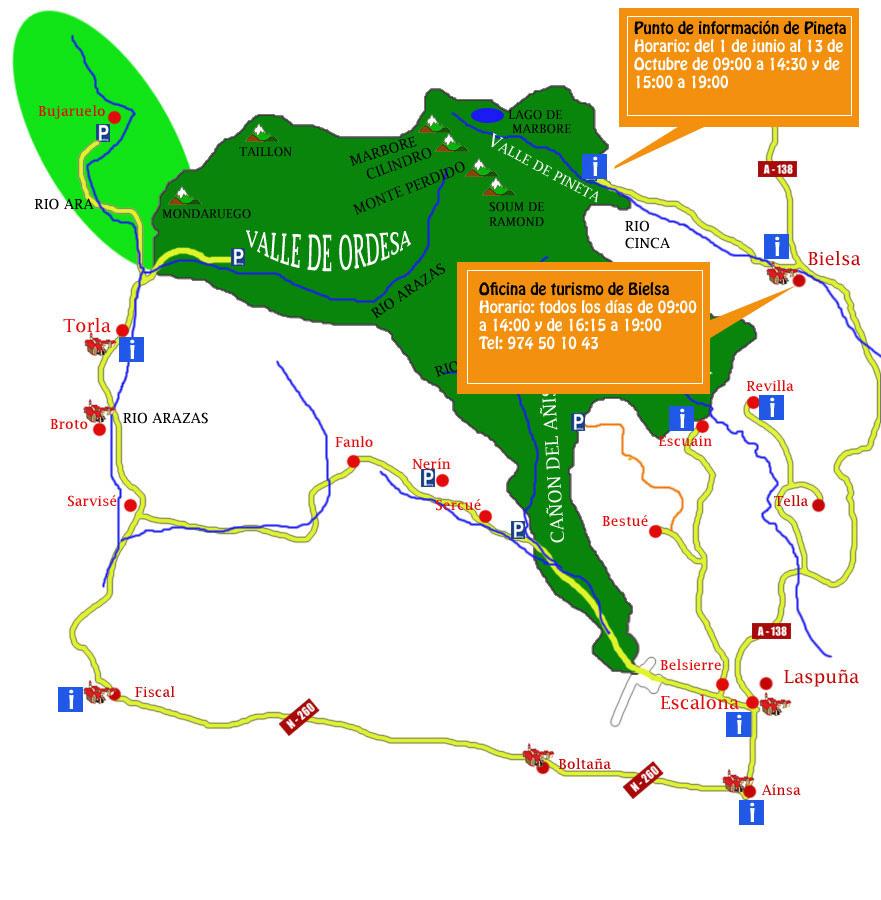 oficinas de turismo bielsa y valle de pineta